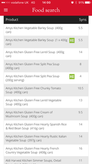 Super Amys Kitchen Soups How Many Syns Syn Values Interior Design Ideas Inamawefileorg