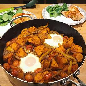 Spicy sweet potatoes and egg recipe-pot1.jpeg