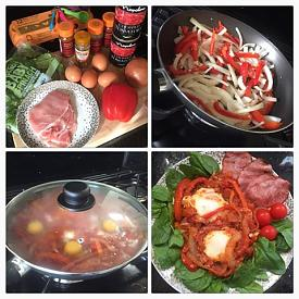 Eggs In A Spicy Tomatoe Sauce - Recipe-food-pic2.jpg
